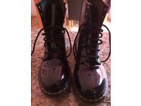 Black patent boots size 7
