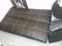 Leather Sofa Bed/Futon