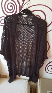 Dark Purple Netted Cardigan from Garage