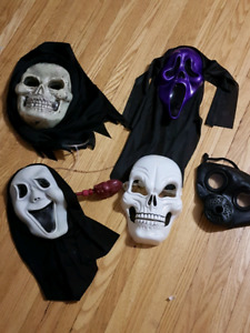 $20.00 for all 5 Costume Masks ... excellent shape