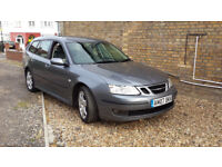 SAAB 9-3 ESTATE SPORT VECTOR 07 PLATE 2007 LONG MOT EXCEPTIONALLY CLEAN FSH HENCE £1095