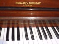 UPRIGHT PIANO BY BARRAT AND ROBINSON