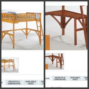 Ginger Loft Bed Frame- Double Size
