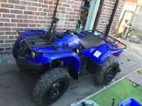2006 Yamaha Grizzly 450cc quad bike - blue 4x4