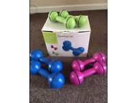 Davina McCall ladies dumbbells weights set