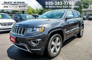 "2016 Jeep Grand Cherokee LIMITED 4X4, BLIND-SPOT, 8.4"" DISPLAY,"