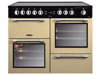 LEISURE Cookmaster CK100C210C Electric Ceramic Range Cooker - Cream & Chrome
