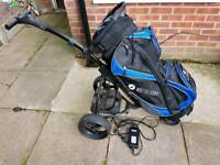 Electric golf trolley & bag