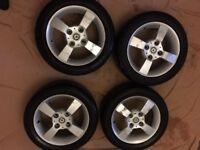Smart Forfour wheels + tyres 15 inch. will fit Mitsubishi Colt CZ