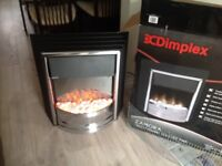 Dimplex electric fire new in box , comes with both white stone and black coal effect bought 10.7.17