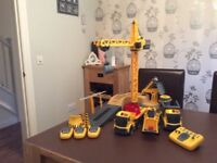 Remote Control Construction Set - 3 Vehicles and A Crane