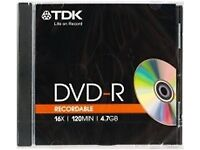 BLANK DVD - R, 8 in total, free to a home, 16X 120MIN 4.7GB, please collect