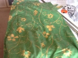 Green and Gold curtains