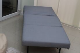Ikea Lysksele Single Chair Bed and Cover