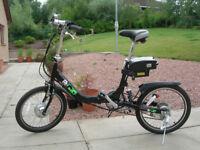 Electric Folding Bicycle / Bike looks brand new Hardly used.