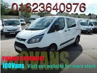 FORD TRANSIT CUSTOM 2.2TDCi (100PS) DOUBLE CAB 6 SEAT SAME DAY FINANCE