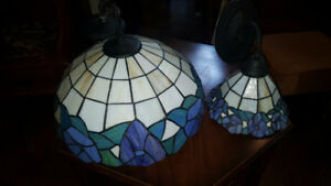 2 gorgeous Tiffany Style stained glass fixtures