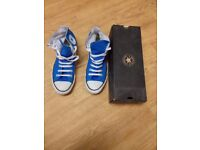 CONVERSE HI TOP ALL STAR CASUAL SHOES SIZE 9 UK BLUE