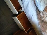 Single wooden bed with storage & mattress