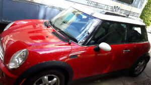 2006 MINI COOPER/PANORAMIC ROOF/COOL RED/WHITE TWO-TONED PAINT