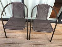 brown patio chairs