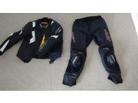 RST Slice 2 Piece Motorcycle Leathers size 42 chest 34 waist