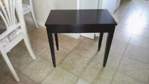 Black Piano Bench with storage