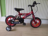 "BOYS.Universal 12 Inch Bike - ""PIRATE"" 12"" WHEELS COMPLETE WITH stabilisers.FULLY WORKING,READY ."
