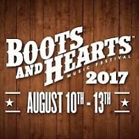 Boots and Hearts ticket and campsite