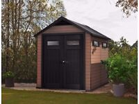 KETER FUSION Wood-Plastic Composite Garden Shed, 7ft6 x 9ft6 2.3m x 2.9m. CHEAPEST IN UK. RRP £1100