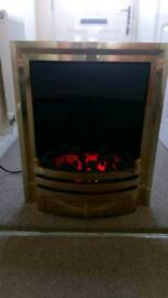 Electric flame effect fire with coal