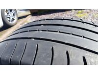 Used Tyres x 2 235/55/18 104Y Goodyear Efficient Grip