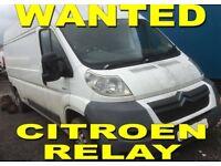 Citroen relay Peugeot boxer fiat ducato van wanted!!!