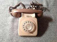 Antique GPO Telephone - 2 tone (Brown) - long cable - 1960's