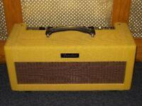 Fender Bassbreaker 15 valve head recovered in tweed by Zilla cabs