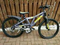 """Boys Raleigh bike 24"""" with fork suspension"""
