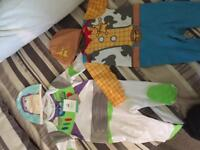 Woody and Buz outfits - 3-6 months.