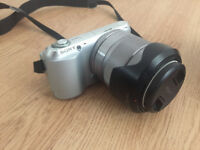 Sony NEX C3 with 18-55 and 55-210 lenses, flash, charger and spare batteries