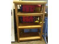 Rustic Solid Oak NEXT furniture - Ladder Shelves, coat hanger, cabinet