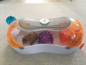 Hamster cage with accessories and bedding