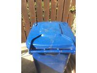 Blue 240 litre bin