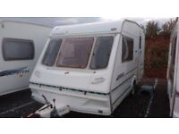 Abbey County Lincoln 2 berth caravan with end kitchen. Year 1999.Inc. Power.Touch mover and awning.