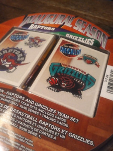 Toronto Raptors + Vancouver Grizzlies inauguration card set