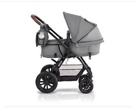 Kindercraft grey travel system as new
