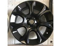 """Fiat 500 alloy wheel 16"""" for sale satin black great condition £100 call 07860431401 only got one"""