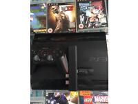 PS3 super slim 500gb with 34 games