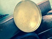 Large brass tray