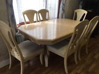 RRP £1,250 Solid wood cream Italian dining table