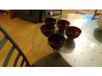 Japanese wooden rice bowls, set of 5