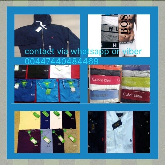 MENS RALPH LAUREN, HUGO BOSS, FRED PERRY, ARMANI, LACOSTE, STONE ISLAND, CK POLOS AND TEES